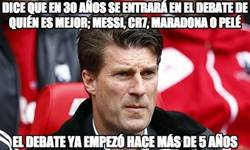 Enlace a Laudrup, llegas tarde