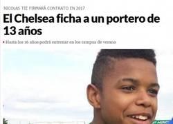 Enlace a El Chelsea ficha a un portero de 13 años