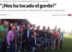 Enlace a Los del Cornellá vacilando a Luis Suárez