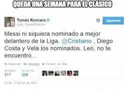 Enlace a Roncero picando a Messi, no sabe lo que hace