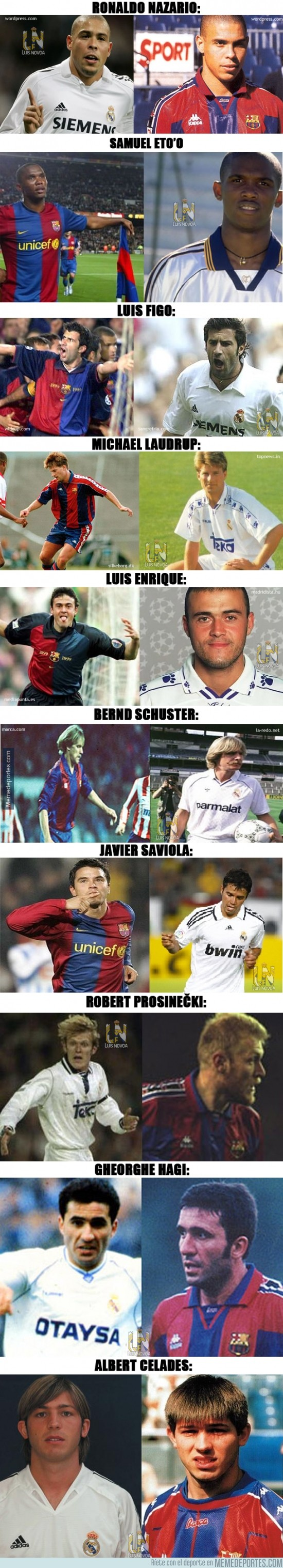 400635 - Real Madrid VS Barcelona: los 10 judas más conocidos del clásico