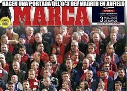 Enlace a Hacen una portada del 0-3 del Madrid en Anfield