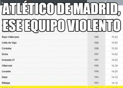 Enlace a Atlético de Madrid, ¿ese equipo violento?