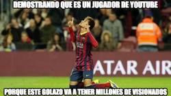 Enlace a Golazo y Neymar demostrando que es un jugador de youtube