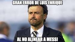 Enlace a Gran error de Luis Enrique no alineando a Messi