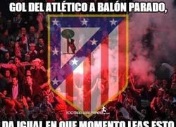 Enlace a Gol del Atlético a balón parado, una vez más
