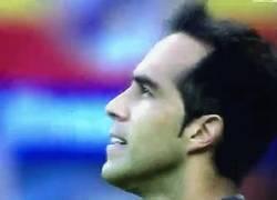 Enlace a GIF: Irina Shayk en el gol de Cristiano Ronaldo: hasta que la cámara no la enfoque, ella no aplaude