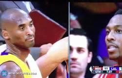 Enlace a GIF: Vaciles NBA. Kobe Bryant llamando blando (soft) a Dwight Howard tras su amago de pelea