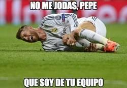 Enlace a Pepe ha agredido a Ramos