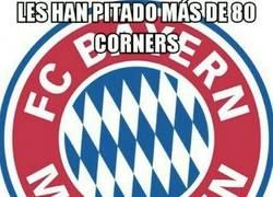 Enlace a Al Bayern no se le dan muy bien los córners