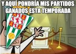Enlace a Córdoba, ánimos, cuando ganes un partido haremos una fiesta