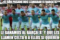 Enlace a Celta A y Barça B