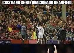 Enlace a Cristiano se fue ovacionado de Anfield