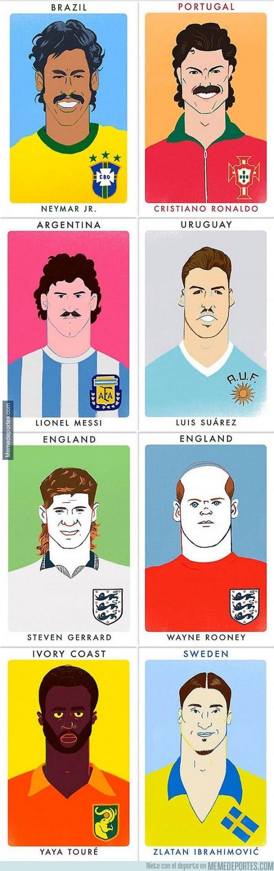 408197 - Algunas de las estrellas del fútbol como en los 70