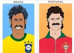 Enlace a Algunas de las estrellas del fútbol como en los 70