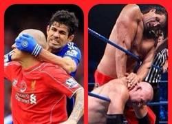 Enlace a Diego Costa se cree que está en la WWE en vez de en un campo de fútbol
