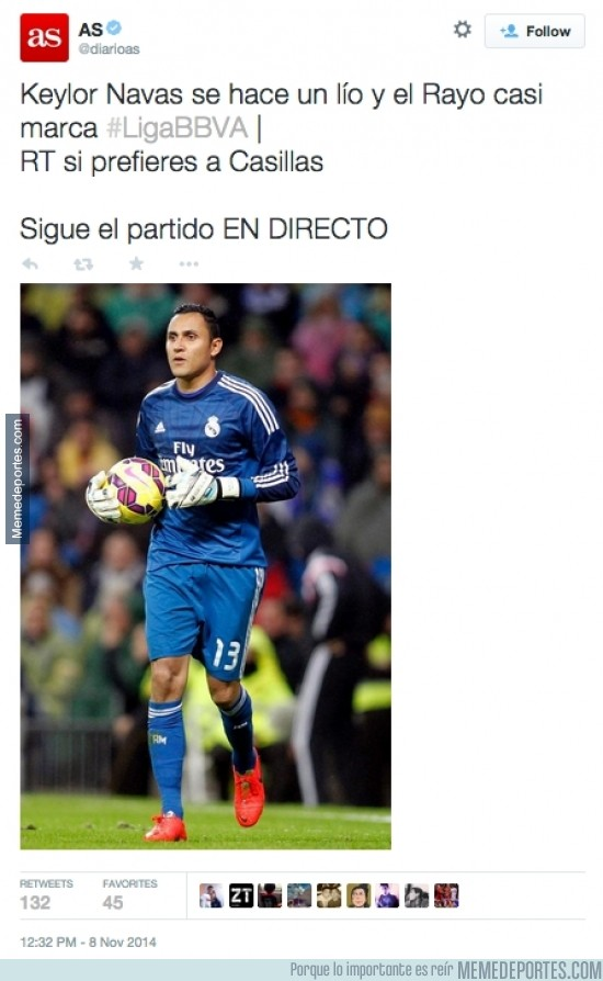 409149 - ¿Que el @diarioas hace campaña a favor de Casillas? Para nada para nada