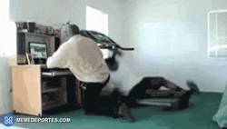 Enlace a GIF: Bartra se está machacando para que no se le escapen en velocidad