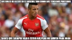 Enlace a Los goles de Alexis en el Arsenal son como los terceros porteros