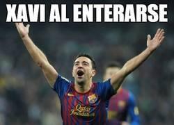 Enlace a Xavi al enterarse de que estrenará césped nuevo en Mestalla