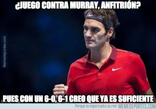 411112 - Federer, a 'semis' del Masters con un triunfo humillante sobre Murray