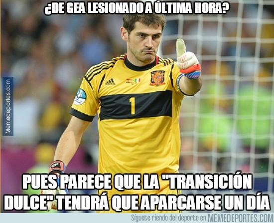411414 - Casillas parece que ''está de enhorabuena''