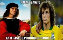 Enlace a David Luiz en el pasado fue un historiador