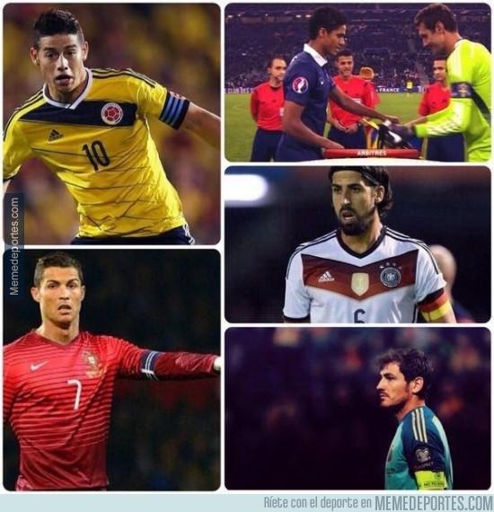 413151 - Real Madrid, único equipo con 5 capitanes con sus selecciones