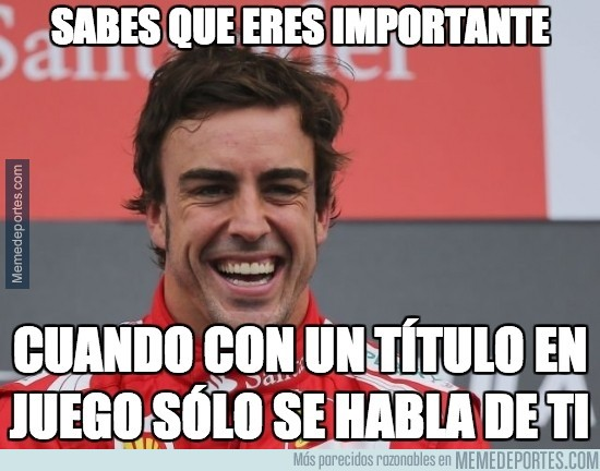 413451 - Qué más da el título de F1, lo importante es el futuro de Alonso