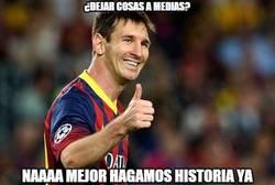 Enlace a Messi no se conforma con igualar el récord de Zarra