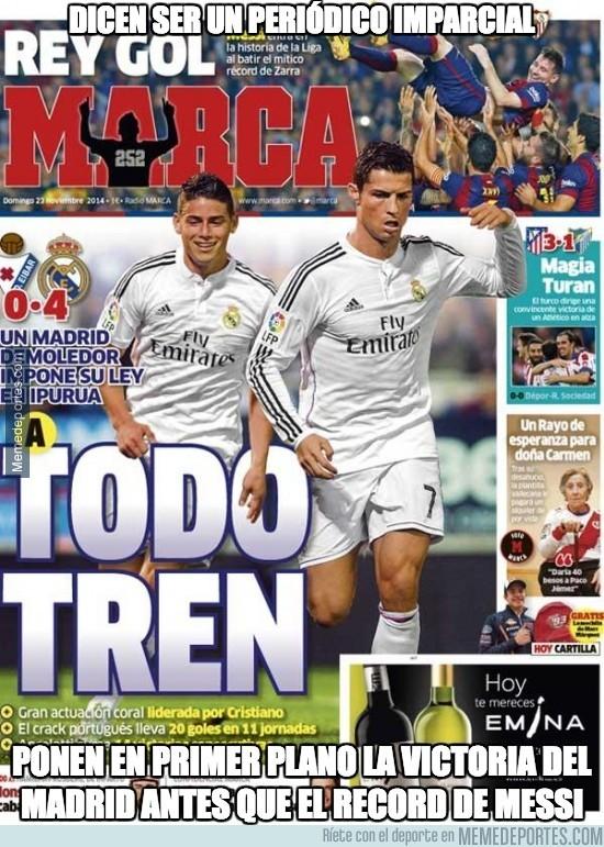 414270 - ¿Alguien pensaba acaso que Marca dedicaría la portada a Messi?