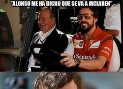 Enlace a Juanca la vuelve a liar. Alonso a McLaren
