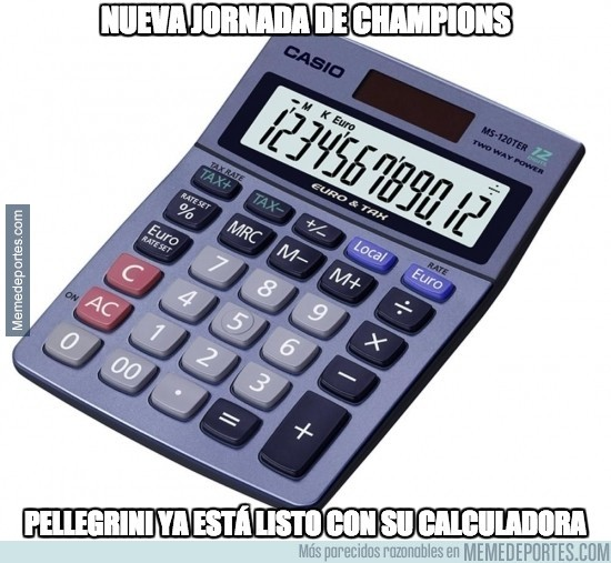 414916 - Pellegrini ya tiene preparada su calculadora