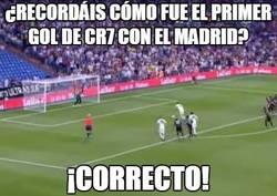 Enlace a ¿Recordáis cómo fue el primer gol de CR7 con el Madrid?