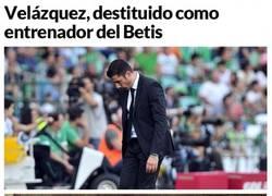 Enlace a Velázquez indignado con su salida del Betis