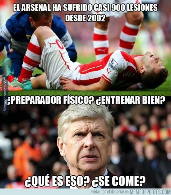 416793 - El Arsenal es el equipo que más lesiones ha sufrido en los últimos 12 años