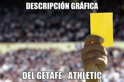Enlace a 12 tarjetas en el Getafe-Athletic