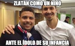 Enlace a Zlatan como un niño