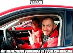 Enlace a Si no quieres morir joven, no subas a un coche que conduzca Benzema