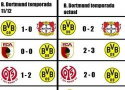 Enlace a Increíble comparativa del Borussia Dortmund actual con el de hace 3 años