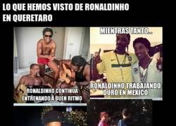 Enlace a Imágenes impactantes: Ronaldinho SÍ entrena