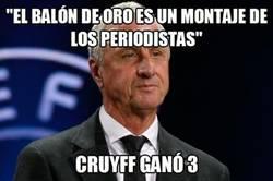 Enlace a Cruyff viene de una época donde ganar el balón de oro no era farándula