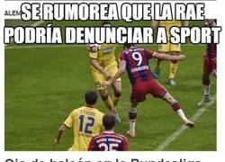 Enlace a Se rumorea que la RAE podría denunciar a Sport