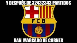 Enlace a Y después de 32432343 partidos, el Barça marca de córner