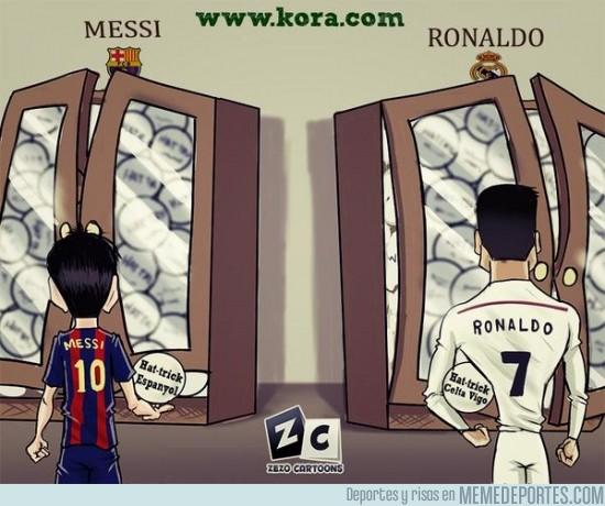 420430 - Los hat-tricks de Messi y Cristiano
