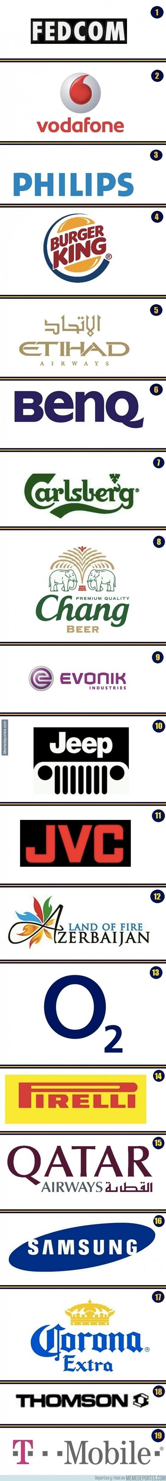 420485 - Logos en el fútbol. ¿Sabrías asignar cada logo a su equipo más emblemático?