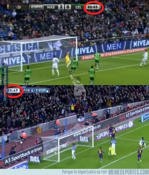 420732 - CR7 y Messi marcaron sus Hat-Tricks en el mismo minuto