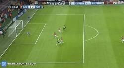 Enlace a GIF: El Arsenal va a tope tras la derrota en Premier, gol de Ramsey 0-2