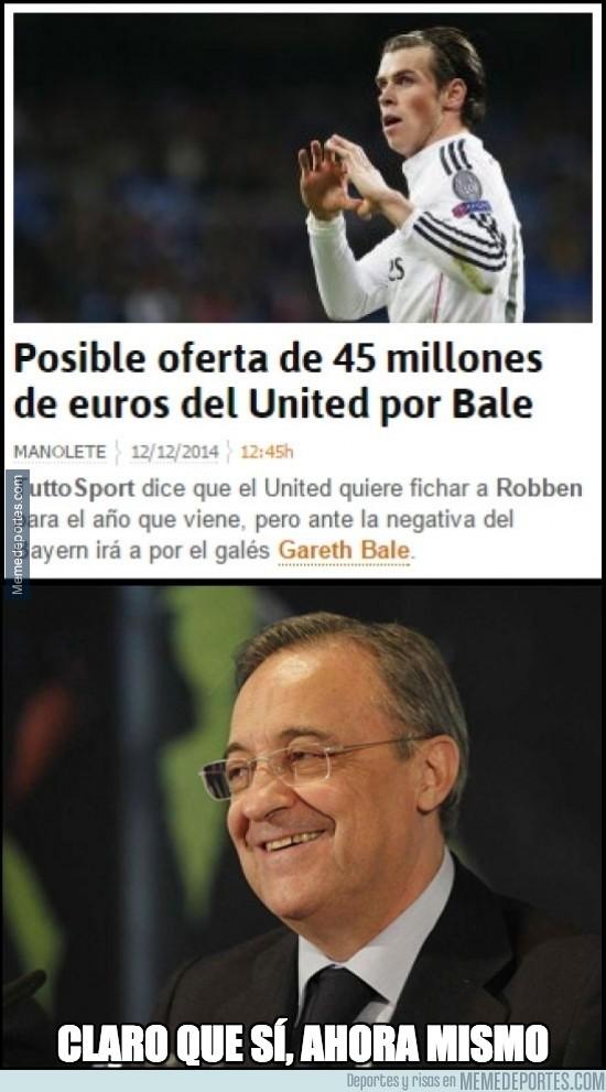 422260 - ¿Vender a Bale por la mitad de lo que costó? Los del United no conocen a Florentino