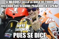 Enlace a Marc Márquez callando bocas
